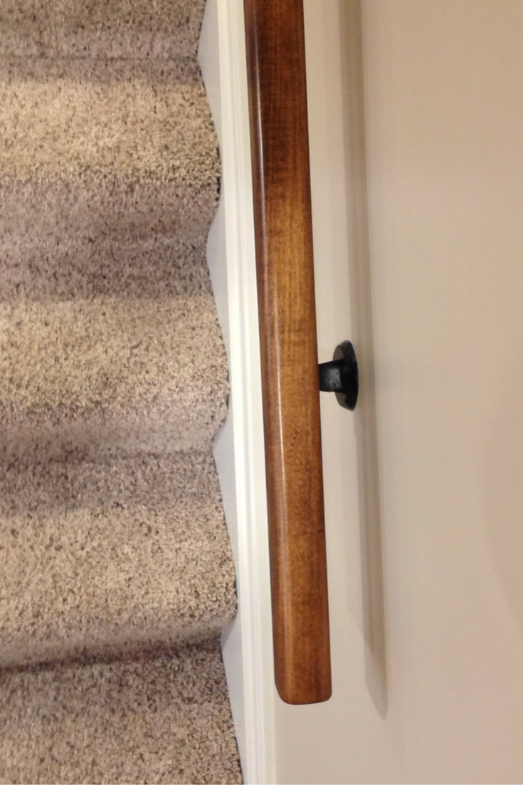 Custom character maple stair railing in cleveland ohio