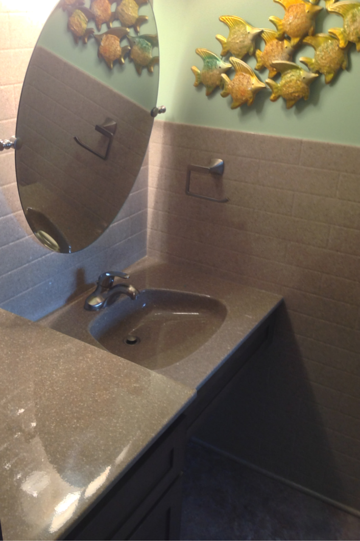subway solid surface wall panels with a stone solid surface vanity top in akron