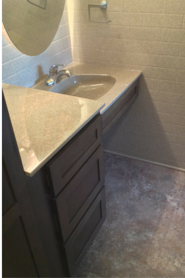 roll under sink for a handicap remodel in akron ohio