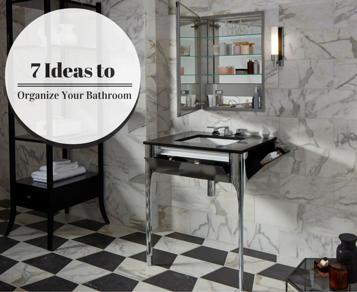 7 Product Ideas to Organize Your Bathroom