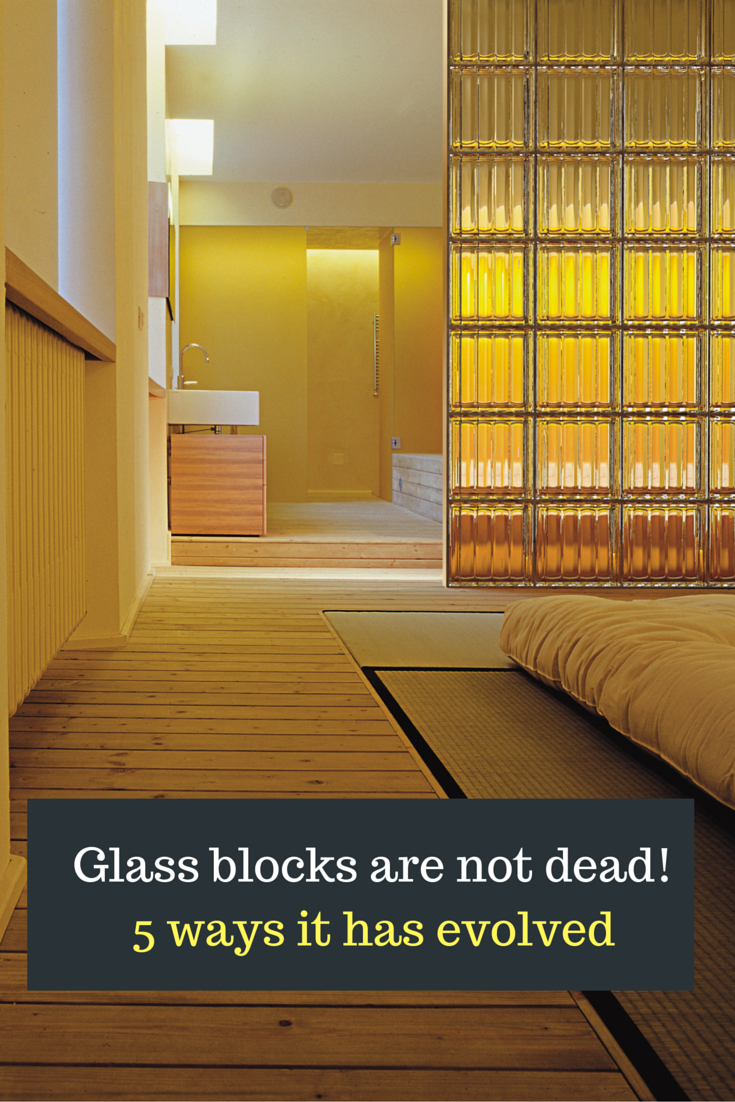 - new products and contemporary glass block designs