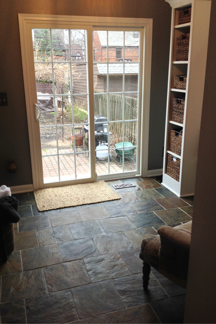 Sliding patio door with grids and low E glass in University Heights Ohio