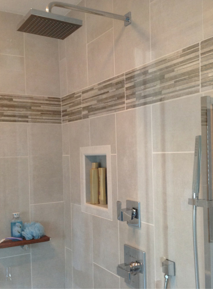 Waterproof ready for tile niche for a bathroom remodeling project in Cleveland Ohio