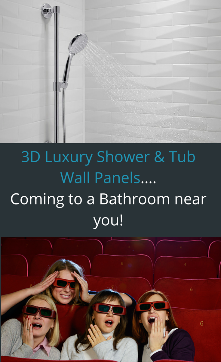 3D Luxury Shower and Tub Wall Panels Coming to a Bathroom Near You