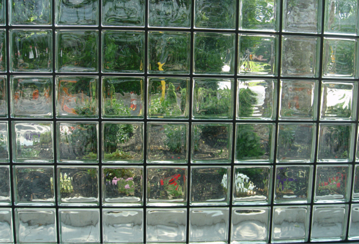 Solid glass brick window with Vistabrik by Pittsburgh Corning
