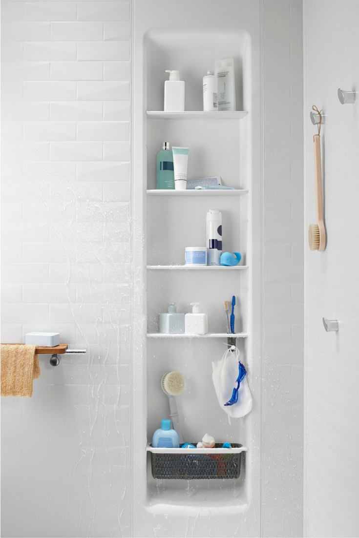 A Recessed Shower Locker Or Niche In A Grout Free Shower Wall Panel System