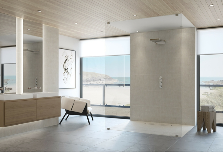 Safe one level barrier free wet room shower systems| Innovate Building Solutions