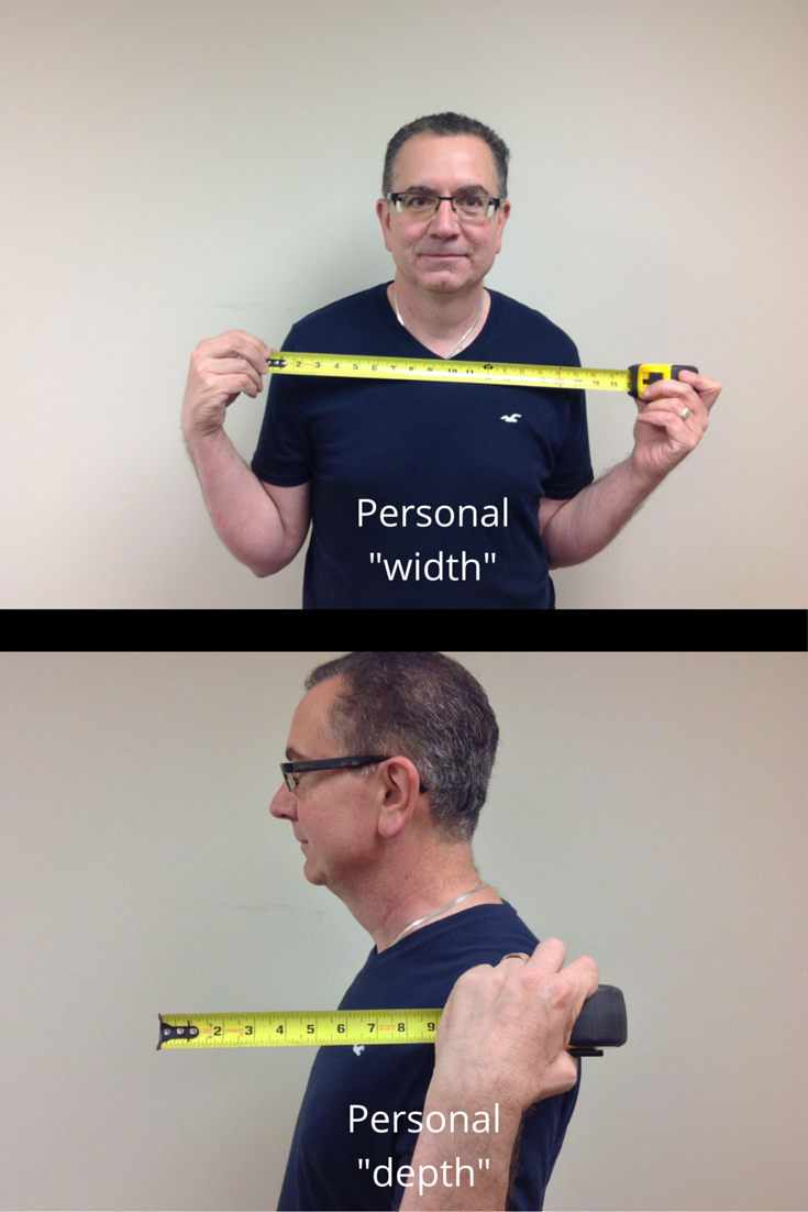 how to measure a person for a width and depth of a shower opening