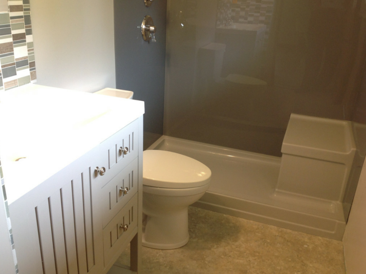 bath to shower conversion in a columbus bathroom remodel