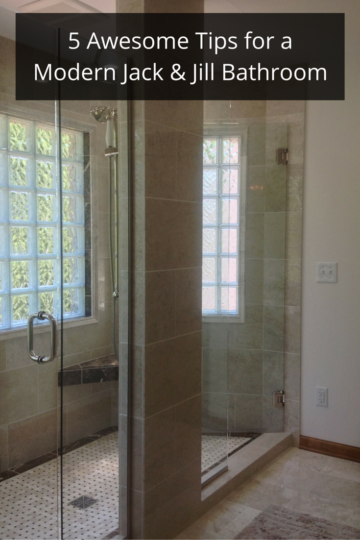 5 tips for a modern jack and jill bathroom remodel in - Jack n jill bath ...
