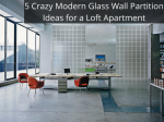 5 Crazy Modern Glass Wall Partition Ideas for a Loft Apartment