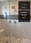 7 1/2 Cool (and unusual) Tile Shower Design Tips from the 2016 Columbus Parade of Homes