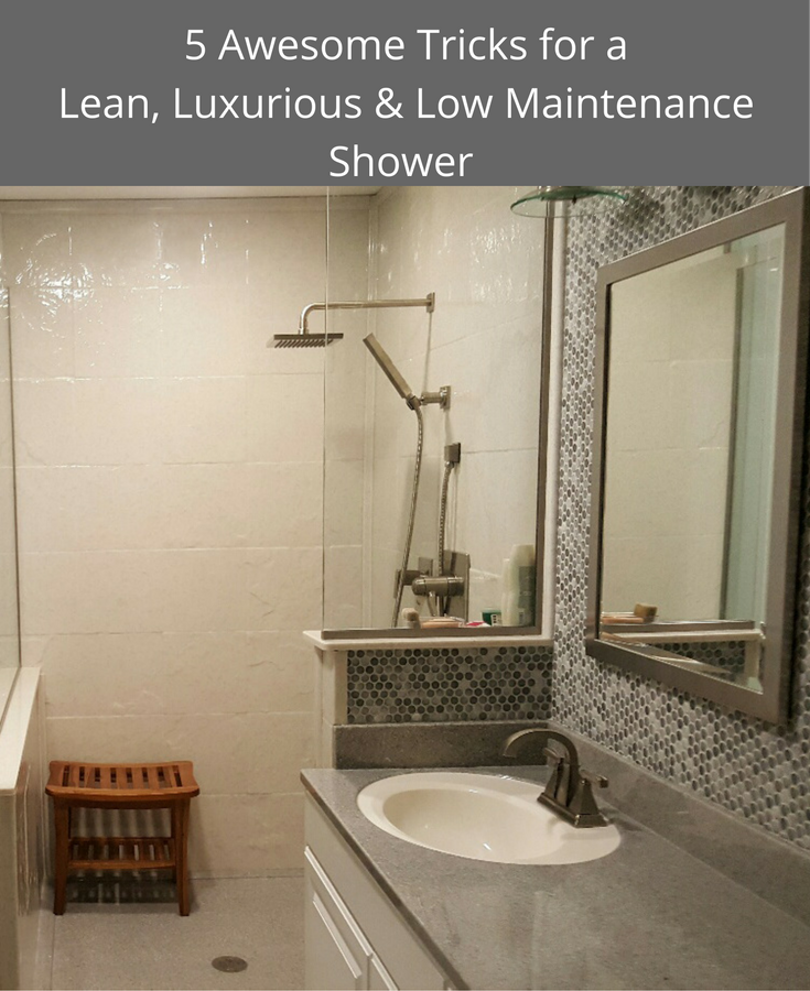 5 Awesome Tricks for a Lean Luxurious and Low Maintenance Shower