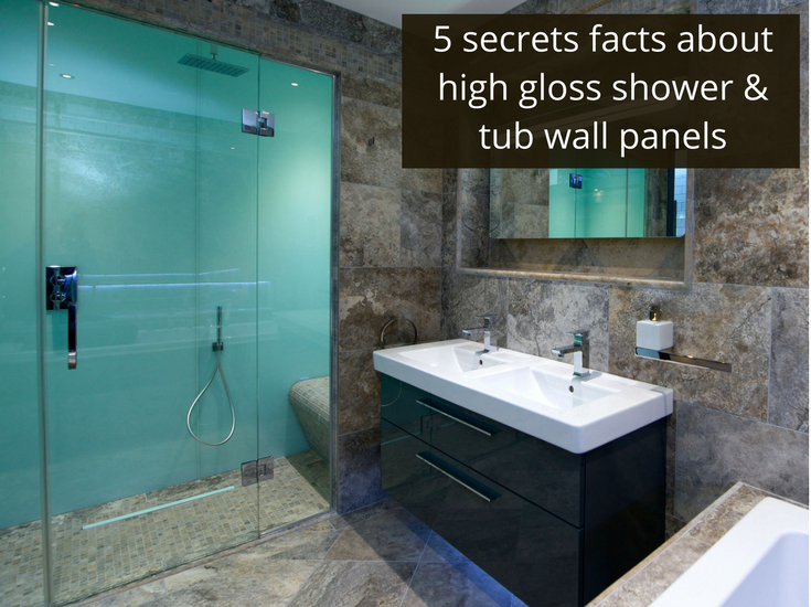5 Secret Facts About High Gloss Acrylic Shower And Tub Wall Panels |  Innovate Building Solutions