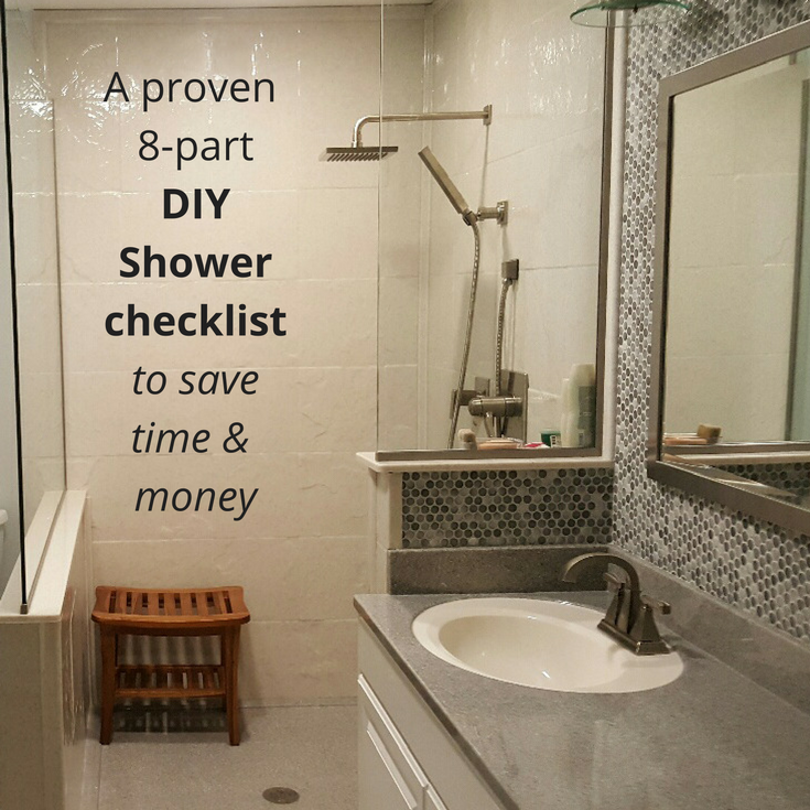 A proven 8 part DIY shower kit checklist from Innovate Building Solutions
