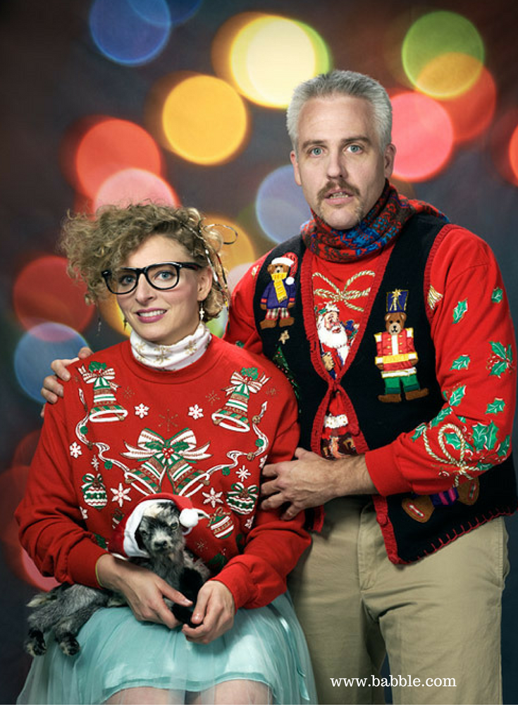 Ugly christmas sweaters worn inside a cold home that needs to be winterized