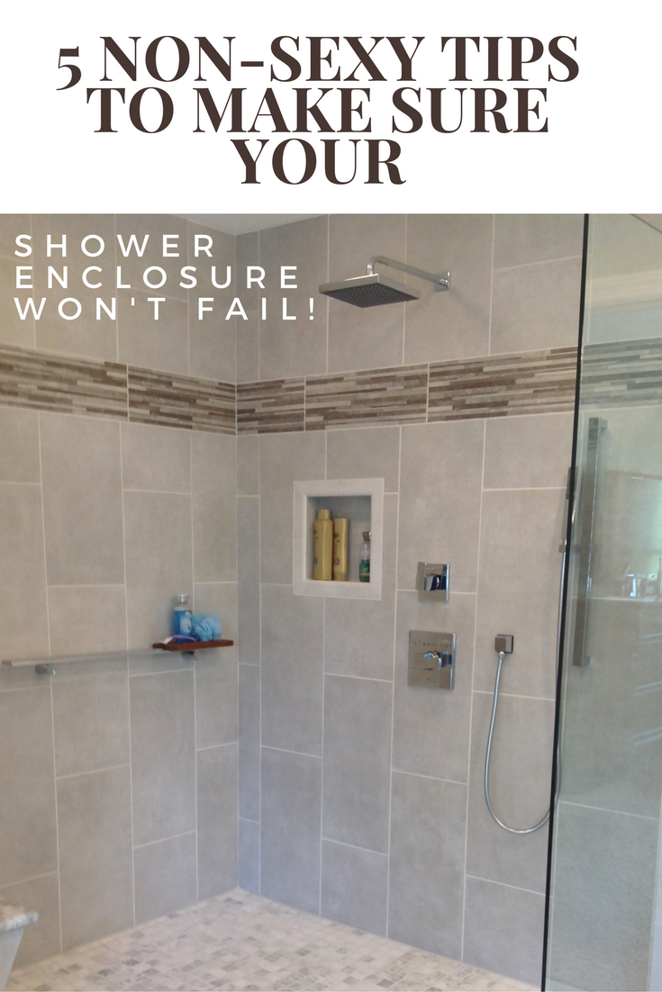 5 non sexy tips to make sure your shower enclosure won't fail | Innovate Building Solutions