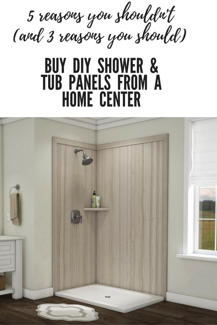 5 reasons you shouldn't (and 3 reasons you shouldn't) buy DIY shower and tub wall panels from a home center | Innovate Building Solutions