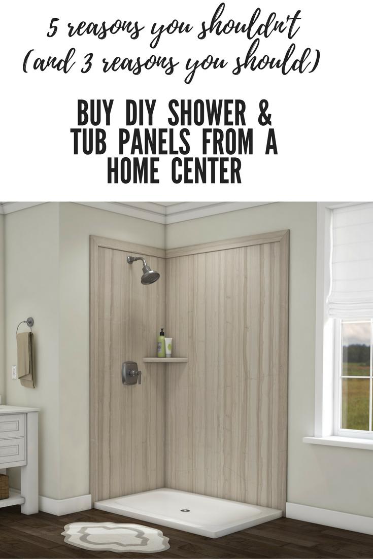 5 Reasons You Shouldn\'t Buy DIY Shower Tub Wall Panels at a Home ...