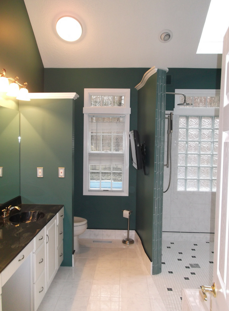 The biggest growth in return on remodeling investment has been in luxury bathrooms. This upscale one level bathroom in the Cleveland suburb of Strongsville Ohio is one example   Innovate Building Solutions