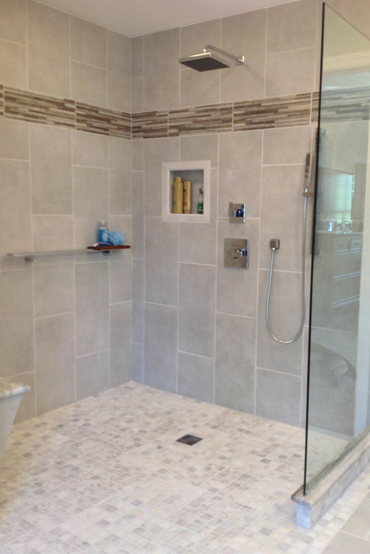 One level waterproof shower system for easy entry and safety | Innovate Building Solutions
