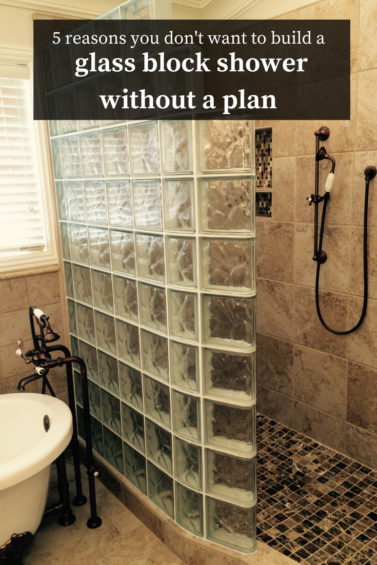 Glass block shower wall planning and installation 5 for What do i need to do to build a house