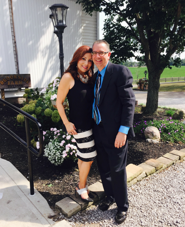 Rose and Mike Foti at a wedding