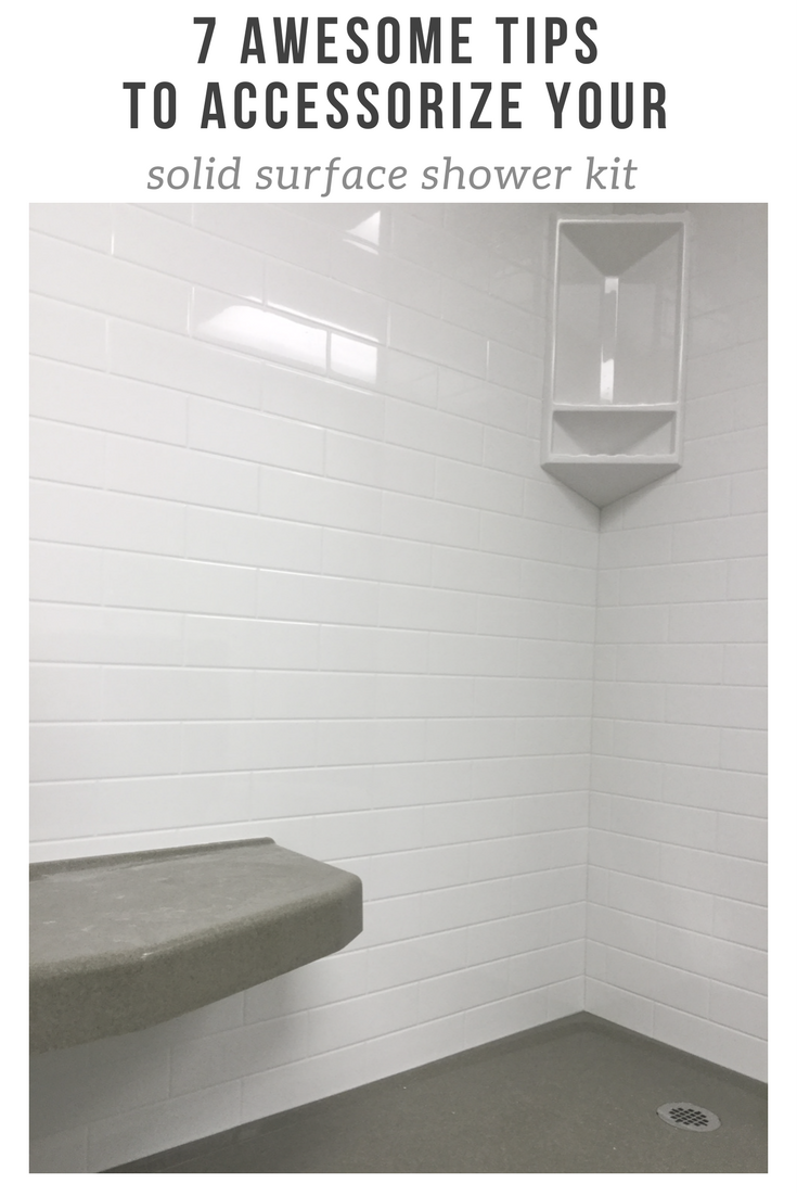 7 awesome tips to accessorize your solid surface shower kit | Innovate Building Solutions