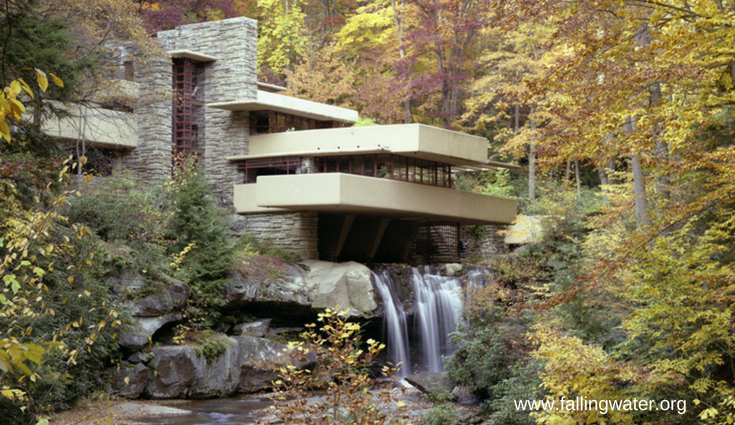 Falling water mid-century modern home in Farmington PA