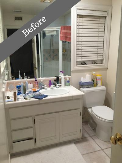 Weiner bathroom remodel in Agoura Hills California before the remodel