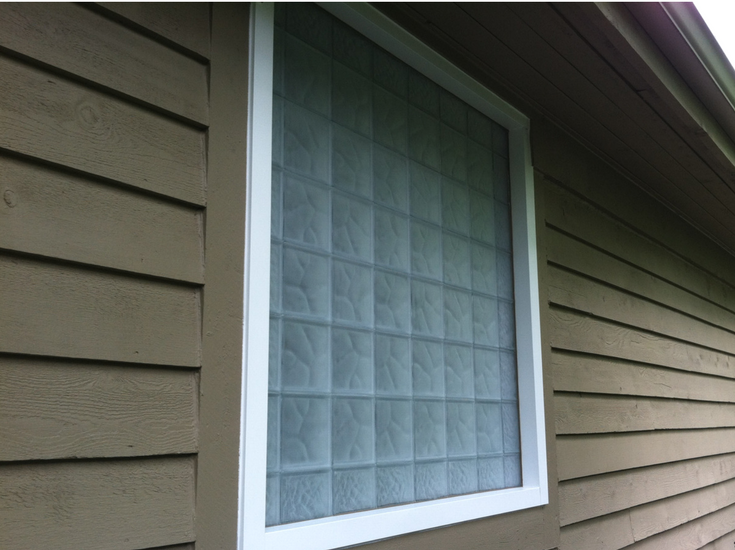 A frosted glass block window in a bathroom or basement provides the ultimate in privacy | Innovate Building Solutions