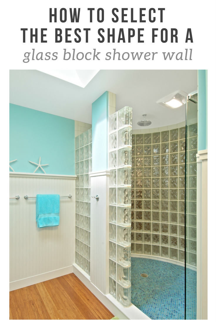 How to select the best shape for a glass block shower wall | Innovate Building Solutions