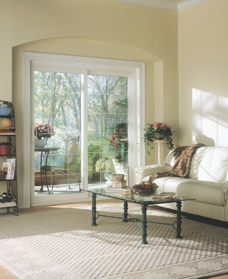 This vinyl sliding patio door is easy to open and has a screen to get nice breezes in the spring and fall | Innovate Building Solutions Cleveland and Columbus Ohio