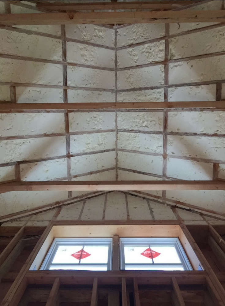 Cellular spray foam insulation in an energy efficient sustainable custom home in Connecticut | Innovate Building Solutions