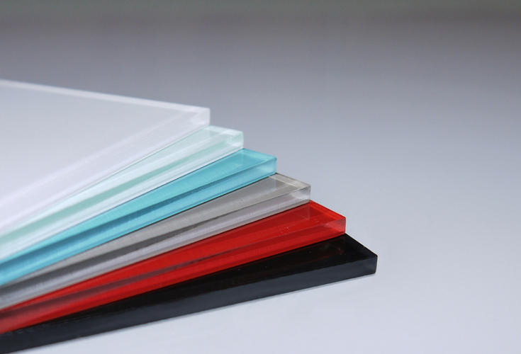 Color selection of high gloss wall panels have smooth polished edges. They come in an artic white, red rouge, blue attol, glacier, mocha, carbon and silver gray colors. | Innovate Building Solutions
