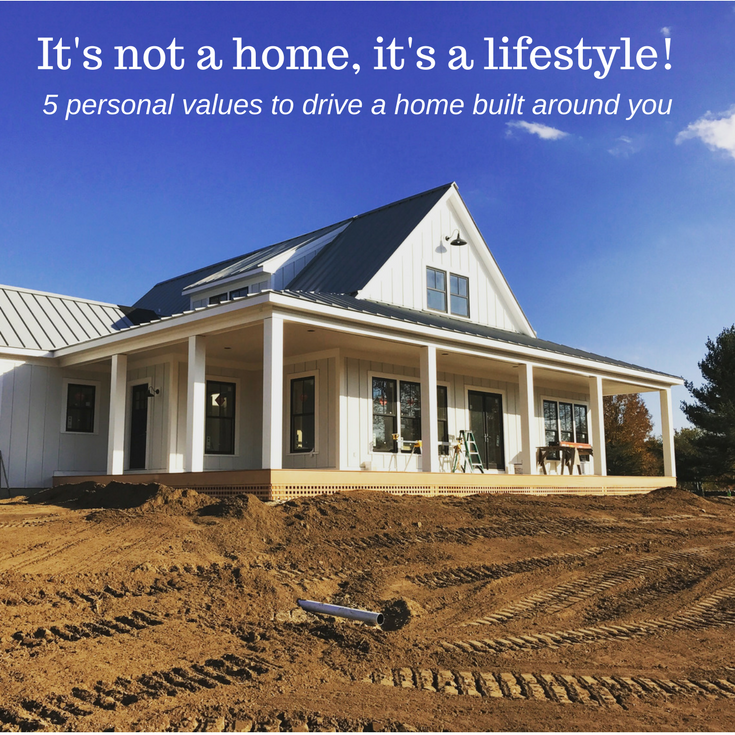 It's not a home it's a lifestyle. 5 personal value to drive a home built around you. | Innovate Building Solutions