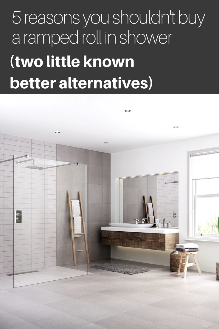 Ramped roll in shower alternatives, wet rooms, solid surface shower ...
