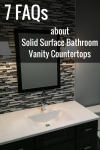 7 Frequently Asked Questions about Solid Surface Bathroom Vanity Countertops
