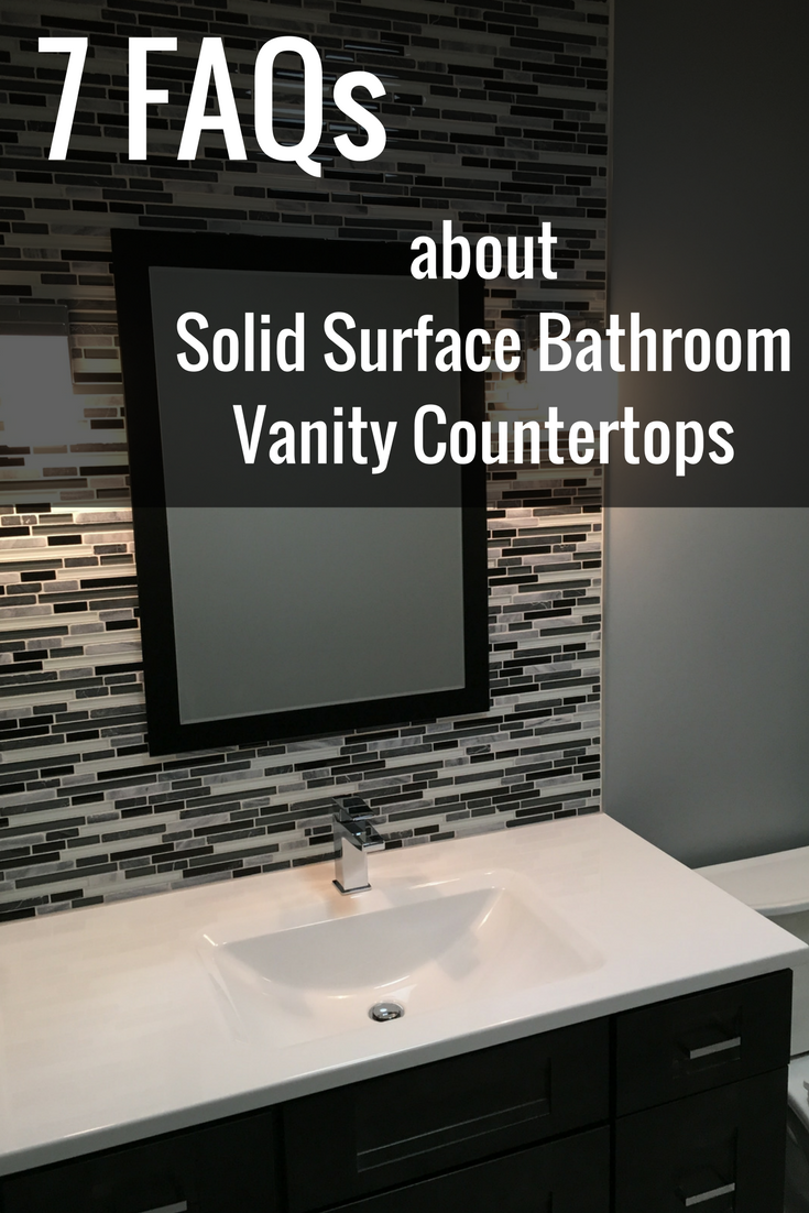 7 frequently asked questions about solid surface bathroom vanity countertops | Innovate Building Solutions