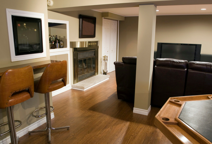 A remodeled Cleveland Ohio basement adds lower level living space | Cleveland Design and Remodeling a division of Innovate Building Solutions