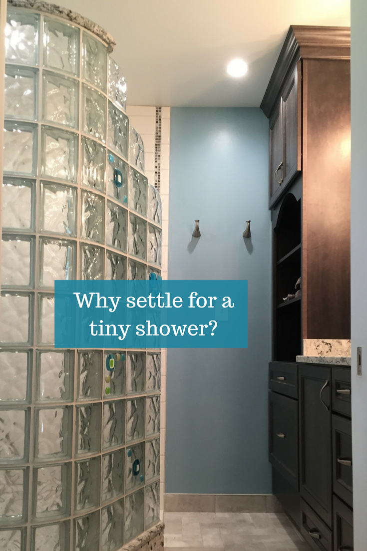 Why settle for a tiny shower | Innovate Building Solutions