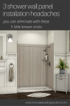3 shower wall panel installation headaches you can eliminate with these 5 little known tricks