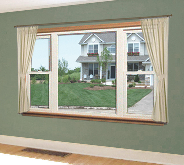 Picture window in Cleveland with 2 double hung windows on the sides | Cleveland Window Company and Clear Choice Window & Door Columbus Ohio