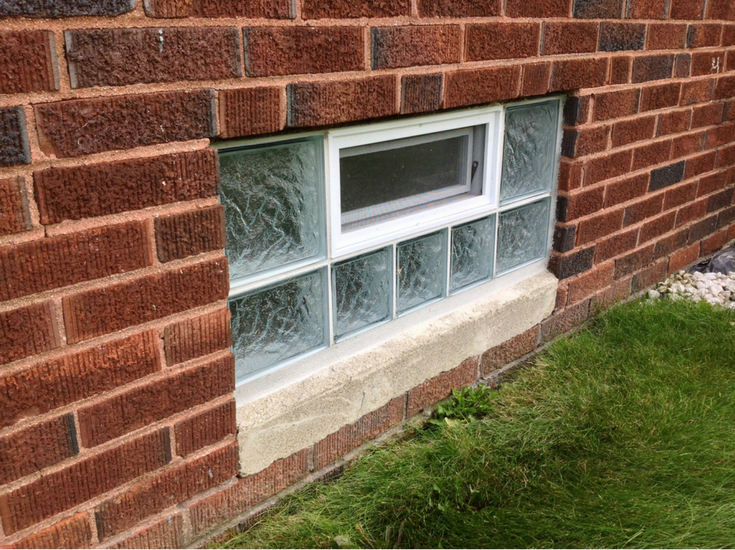 Protect all glass block basement window for lower heating bills and improved privacy and security | Innovate Building Solutions