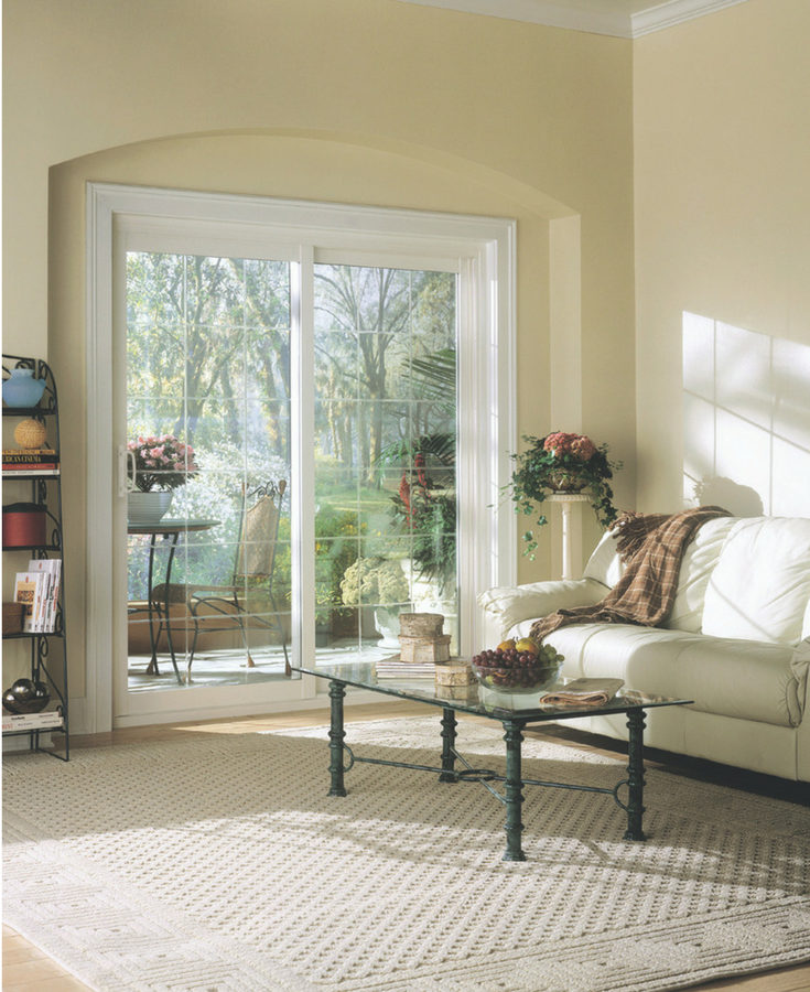 Sliding vinyl framed patio doors | Cleveland Window Company and Clear Choice Windows Columbus Ohio