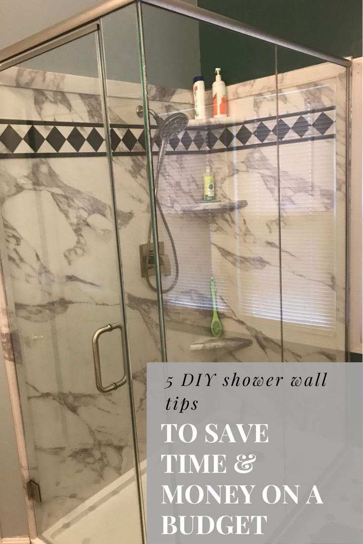 5 DIY shower wall tips save you time, money (and aggravation) on a budget