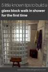 5 Little Known Tips to Build a Glass Block Walk in Shower for the First Time