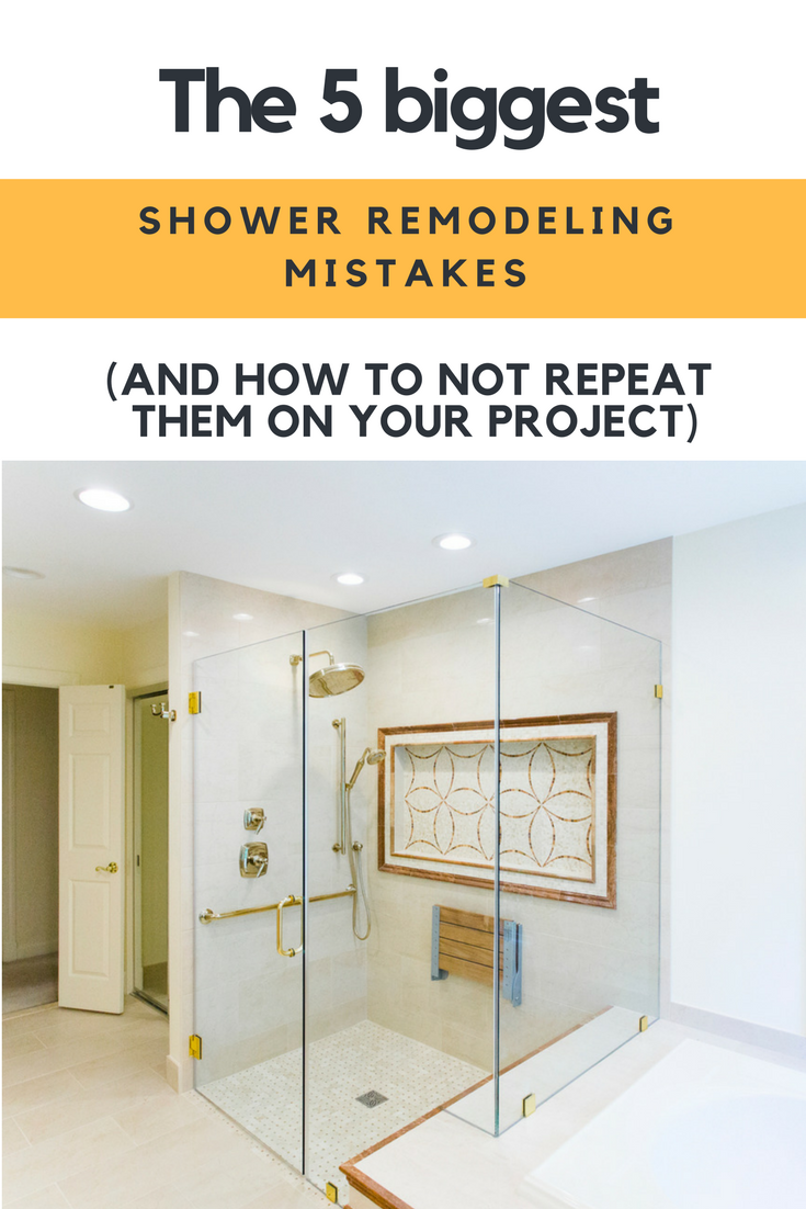 The 5 Biggest Shower Remodeling Mistakes (and How To Not Repeat Them on Your Project) | Innovate Building Solutions #Shower #Remodeling #BathRemodeling