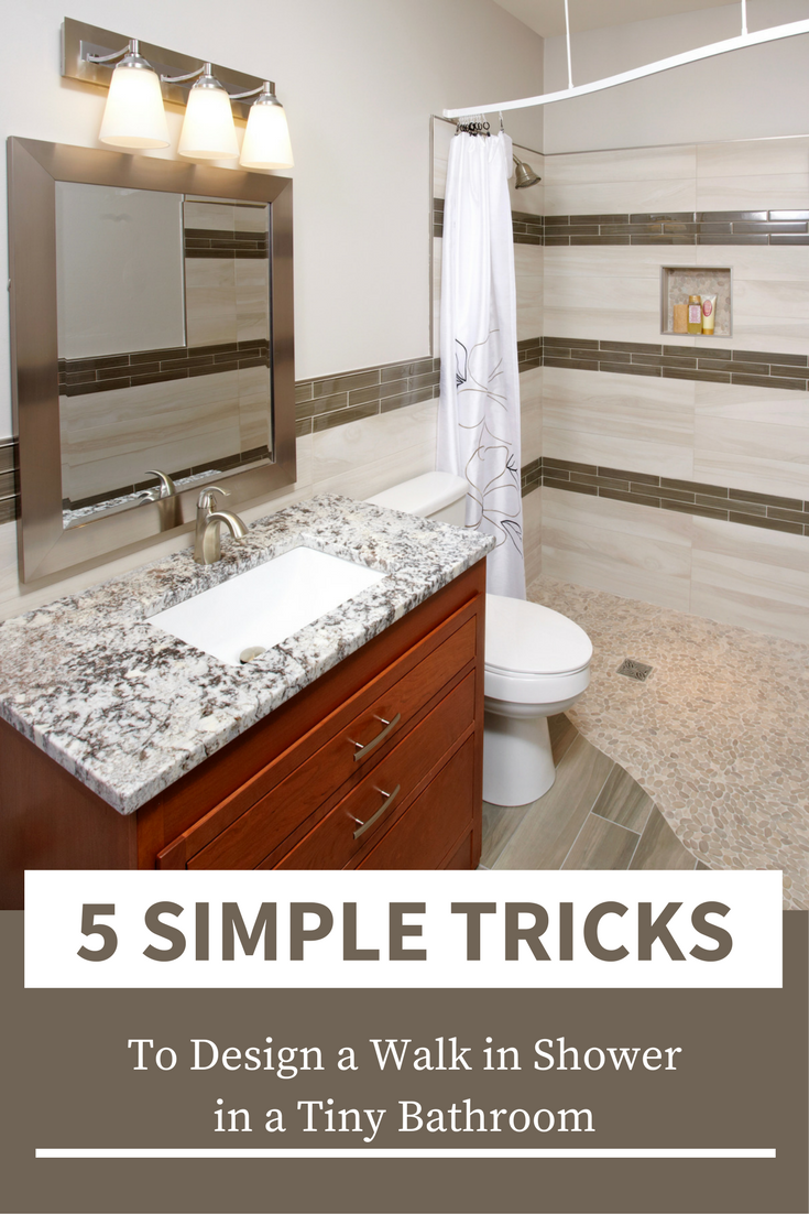 5 simple tricks to design a walk in shower in a tiny bathroom - Innovate Building Solutions #Bathroom #Shower #WalkInShower