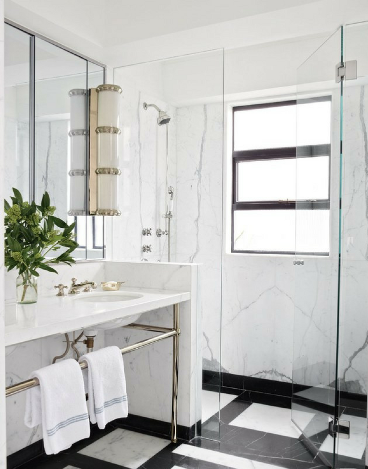 One Level Shower Architectural Digest | Innovate Building Solutions #OneLevelShower #ShowerBase